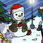 Disegno racconto umoristico la Guerra di Babbo Natale